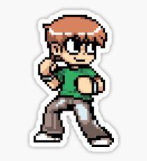 Scott Pilgrim 8-bit art Sticker