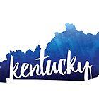 Kentucky - Watercolor Outline by gracehertlein