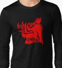Camiseta de manga larga Jabalí negro