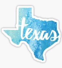 Pegatina Texas - acuarela azul claro