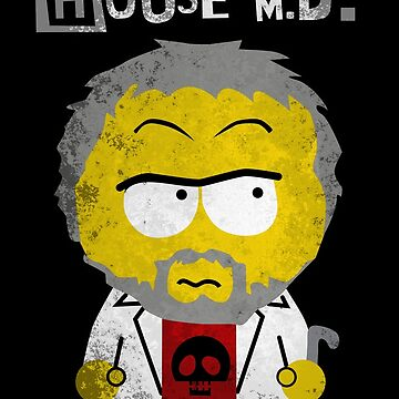 House MD in the style of South Park by losfutbolko