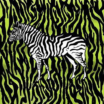 Zebra - animal colour pop art by piciareiss