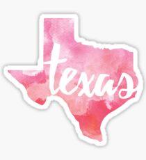 Texas - pink watercolor Sticker