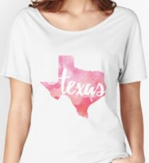 Texas - pink watercolor Women's Relaxed Fit T-Shirt