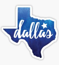 Dallas, Texas - blue watercolor Sticker