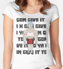 rick gon give it to ya Women's Fitted Scoop T-Shirt