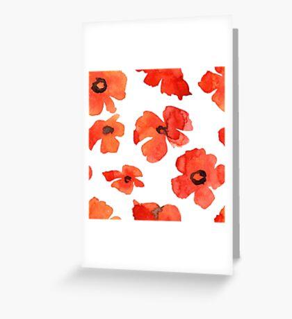 - Poppy pattern - Greeting Card