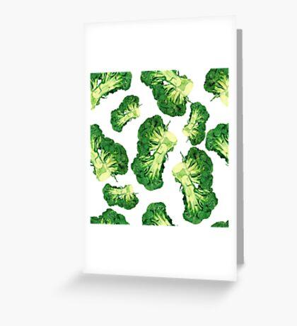 - Broccoli pattern (white) - Greeting Card