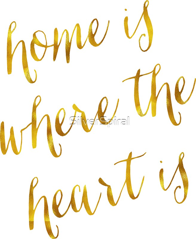 Home Is Where The Heart Is Quote Glamorous Home Is Where The Heart Is Gold Faux Foil Metallic Glitter Quote