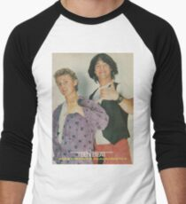 Bill and Ted Teen Beat cover Men's Baseball ¾ T-Shirt