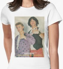 Bill and Ted Teen Beat cover Women's Fitted T-Shirt