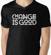 Change Is Good {White Version} Men's V-Neck T-Shirt