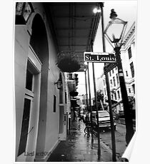 St Louis St, New Orleans Poster