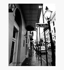 St Louis St, New Orleans Photographic Print