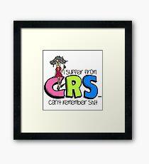 Female CRS Funny Humorous Framed Print
