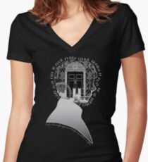 What is it Like in Your Funny Little Brains? Fitted V-Neck T-Shirt