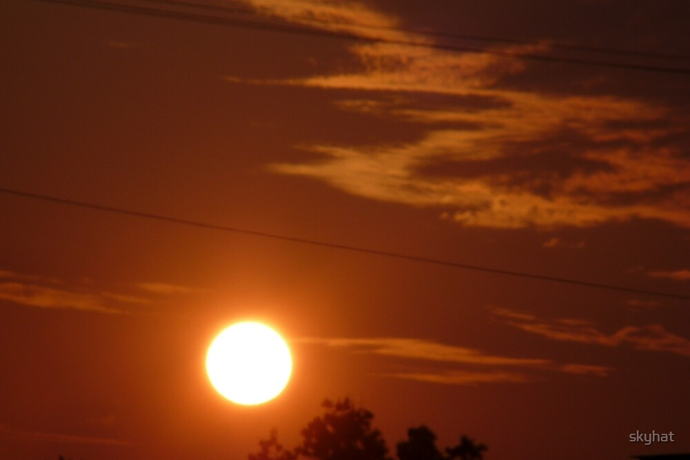 Orange Sunrise  by skyhat