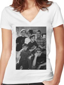Malcolm in the Middle B&W photo Women's Fitted V-Neck T-Shirt