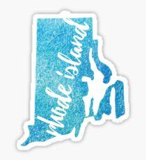 Rhode Island - blue watercolor Sticker