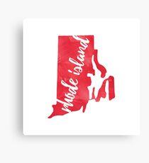 Rhode Island - Red Watercolor Canvas Print