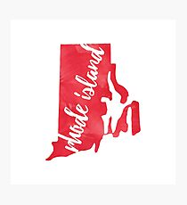 Rhode Island - Red Watercolor Photographic Print