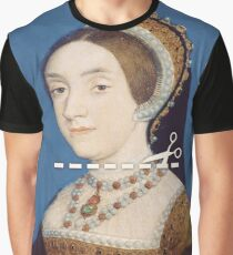 Cut Here - Catherine Howard Graphic T-Shirt