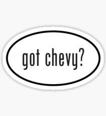 got chevy? oval sticker Sticker