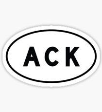 Oval Sticker - ACK - Nantucket Memorial Airport Sticker