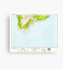 USGS TOPO Map Hawaii HI Hawaii South 349923 1959 250000 Canvas Print