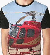 Helicopter, red, aircraft Graphic T-Shirt