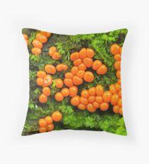 tiny slime mold Throw Pillow
