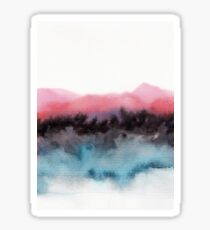 Watercolor abstract landscape 10 Sticker
