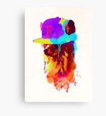 Foxey's favourite cap Canvas Print