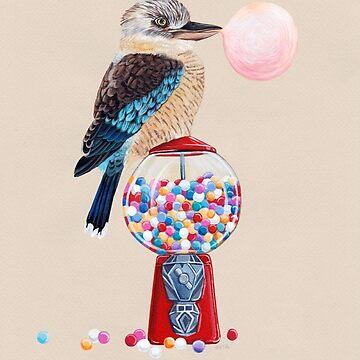 Bird gumball machine Kookaburra by Ruta
