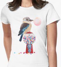 Bird gumball machine Kookaburra Women's Fitted T-Shirt