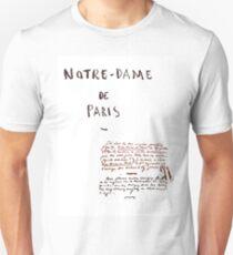 Notre-Dame de Paris Manuscript T-Shirt