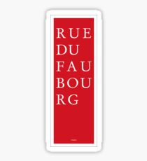 Rue du Faubourg - Paris Sticker