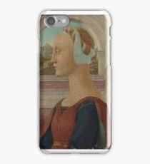 Portrait of a Woman,  Imitator of Piero della Francesca iPhone Case/Skin