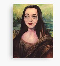 Morticia Lisa Smile Canvas Print