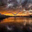Infinity Bridge Sunset by Dave Hudspeth