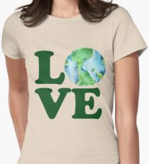 LOVE mother earth day Womens Fitted T-Shirt