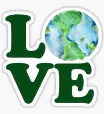 LOVE mother earth day Sticker