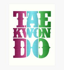 taekwondo retro metal style vintage color Art Print