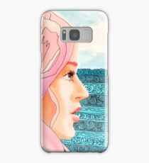Pen and Acrylic Pink Haired Girl Samsung Galaxy Case/Skin