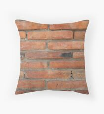 Adobe Brick Wall Throw Pillow