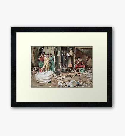 Two Sides to One Story Framed Print