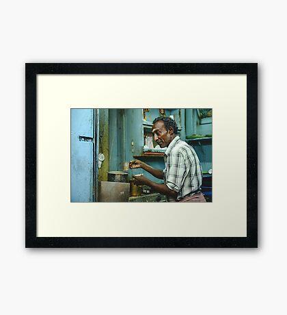Chai in Madurai  Framed Print