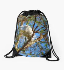 Way Up In The Trees Drawstring Bag