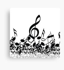 Music Note's BW 2 Canvas Print