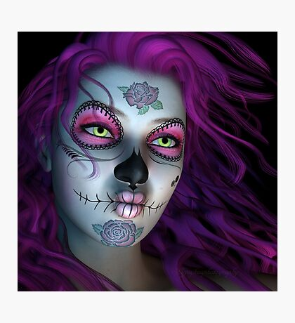 Sugar Doll Purple Photographic Print